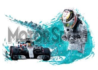 Product image for Lewis Hamilton - Mercedes – 2017   David Johnson   Limited Edition print