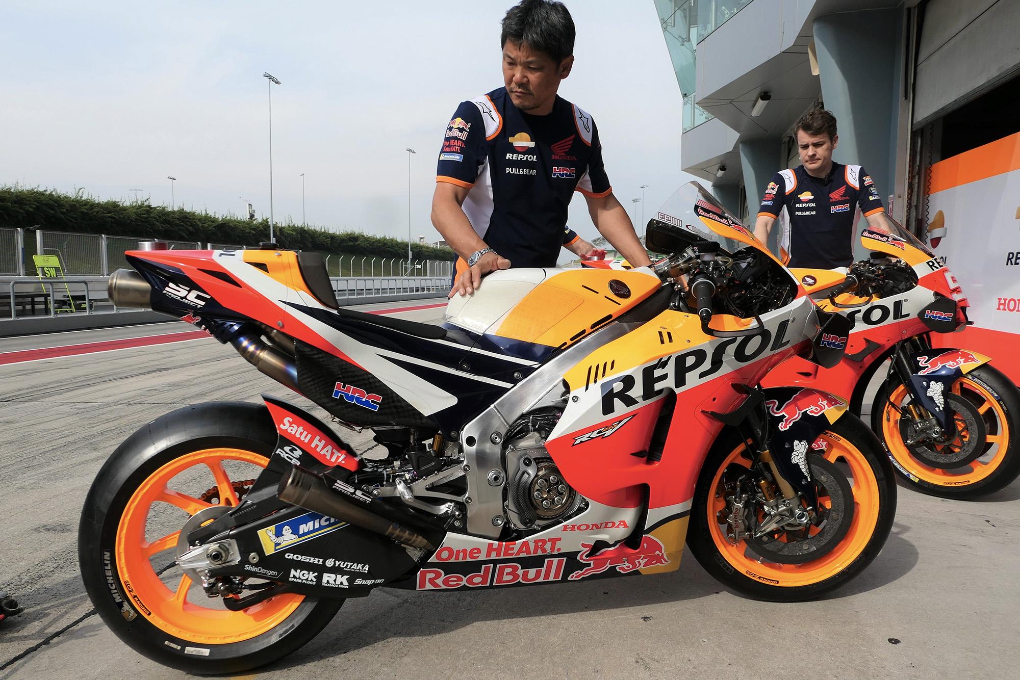 Marc Marquez's Honda in 2020 Sepang pre-season MotoGP testing