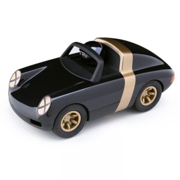 left sports car model in black