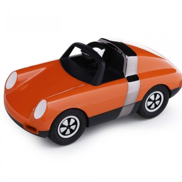 luft sports car toy model in orange