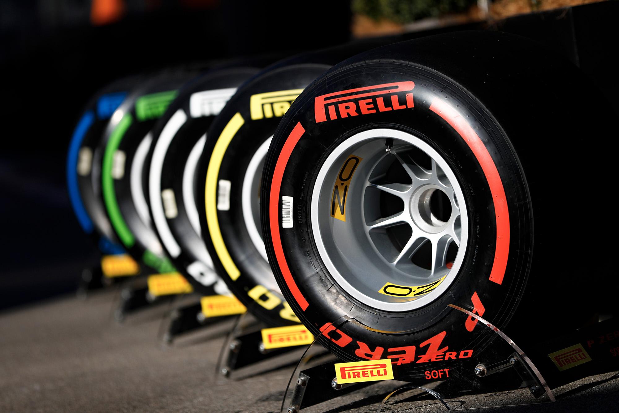 Pirelli tyres at 2019 pre-season F1 testing