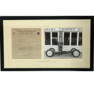 Product image for Mike Hawthorn - Ferrari - 1958 | Tourist Trophy garage letter | signed Mike Hawthorn