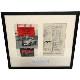 Product image for Giuseppe Farina - Maserati - 1951   Goodwood Programme   signed Giuseppe Farina