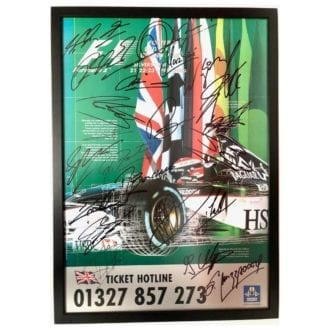 Product image for Formula 1   British Grand Prix - 2000   official poster   signed full 2000 F1 grid
