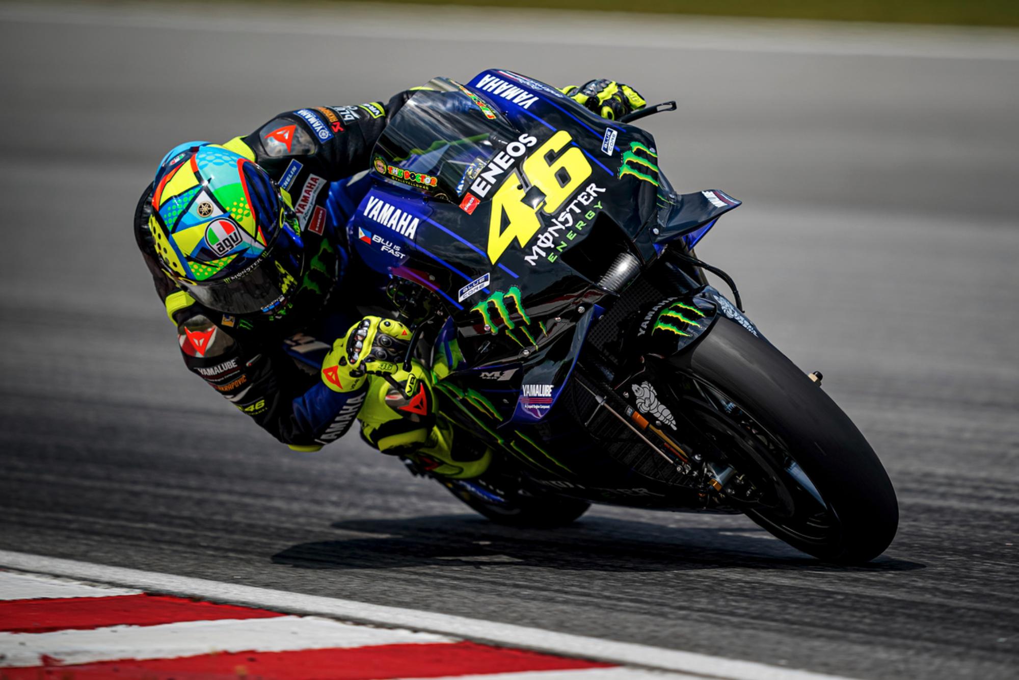 Valentino Rossi during 2020 MotoGP testing