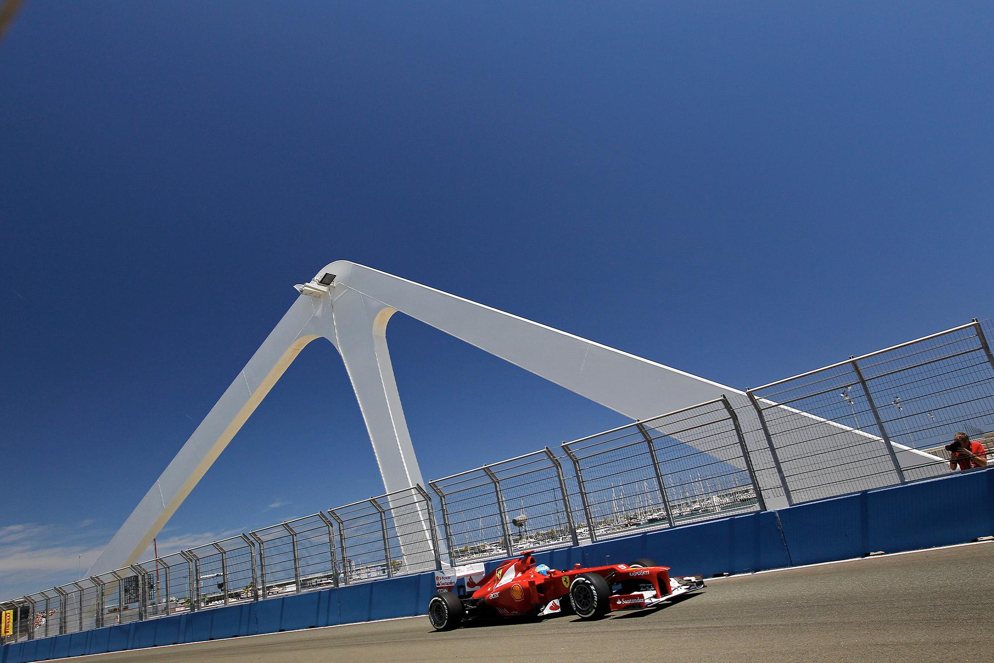 FErnando Alonso in Valencia for the 2012 European Grand Prix