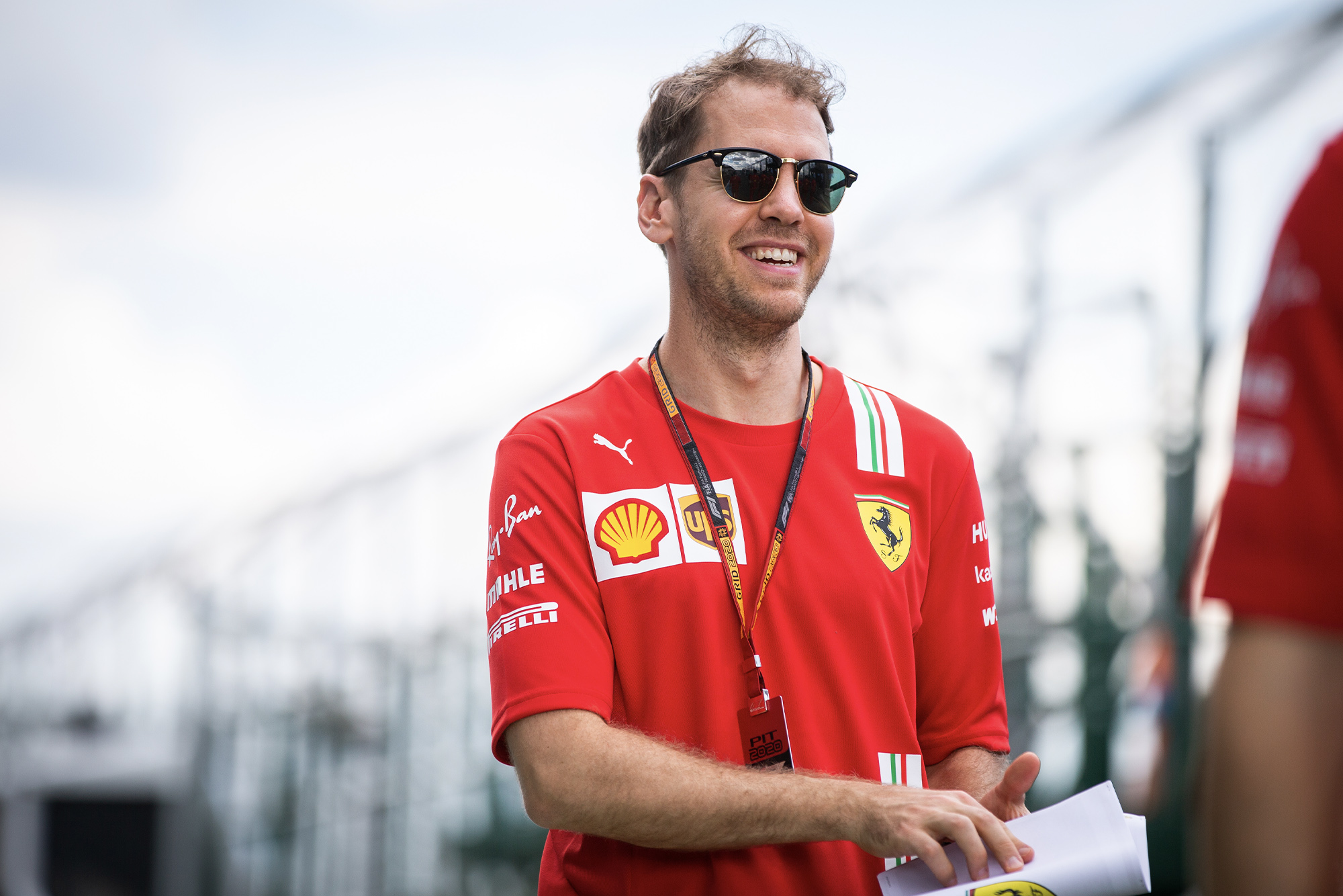 Sebastian Vettel in Melbourne ahead of the cancelled 2020 F1 Australian Grand Prix