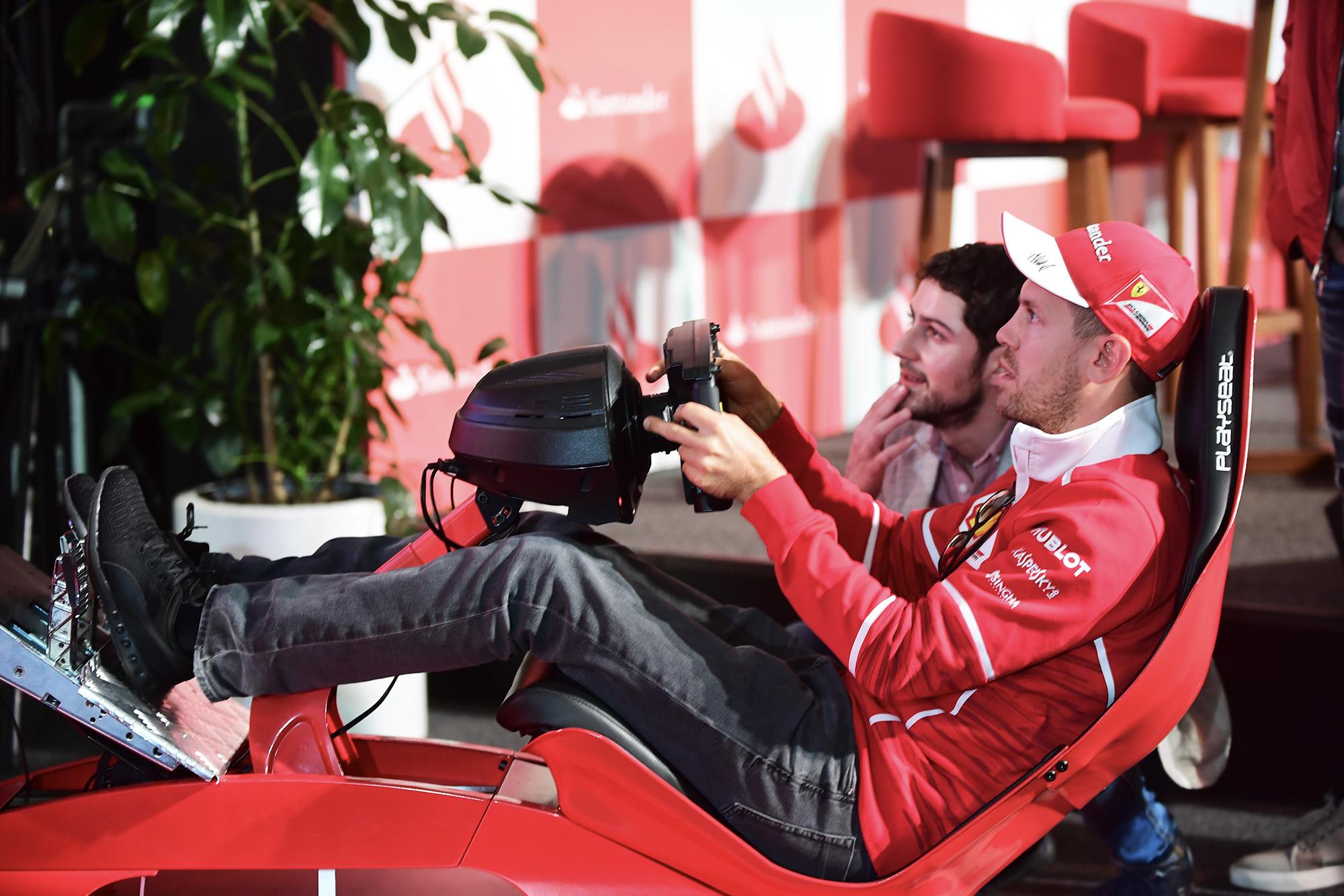 Sebastian Vettel gaming