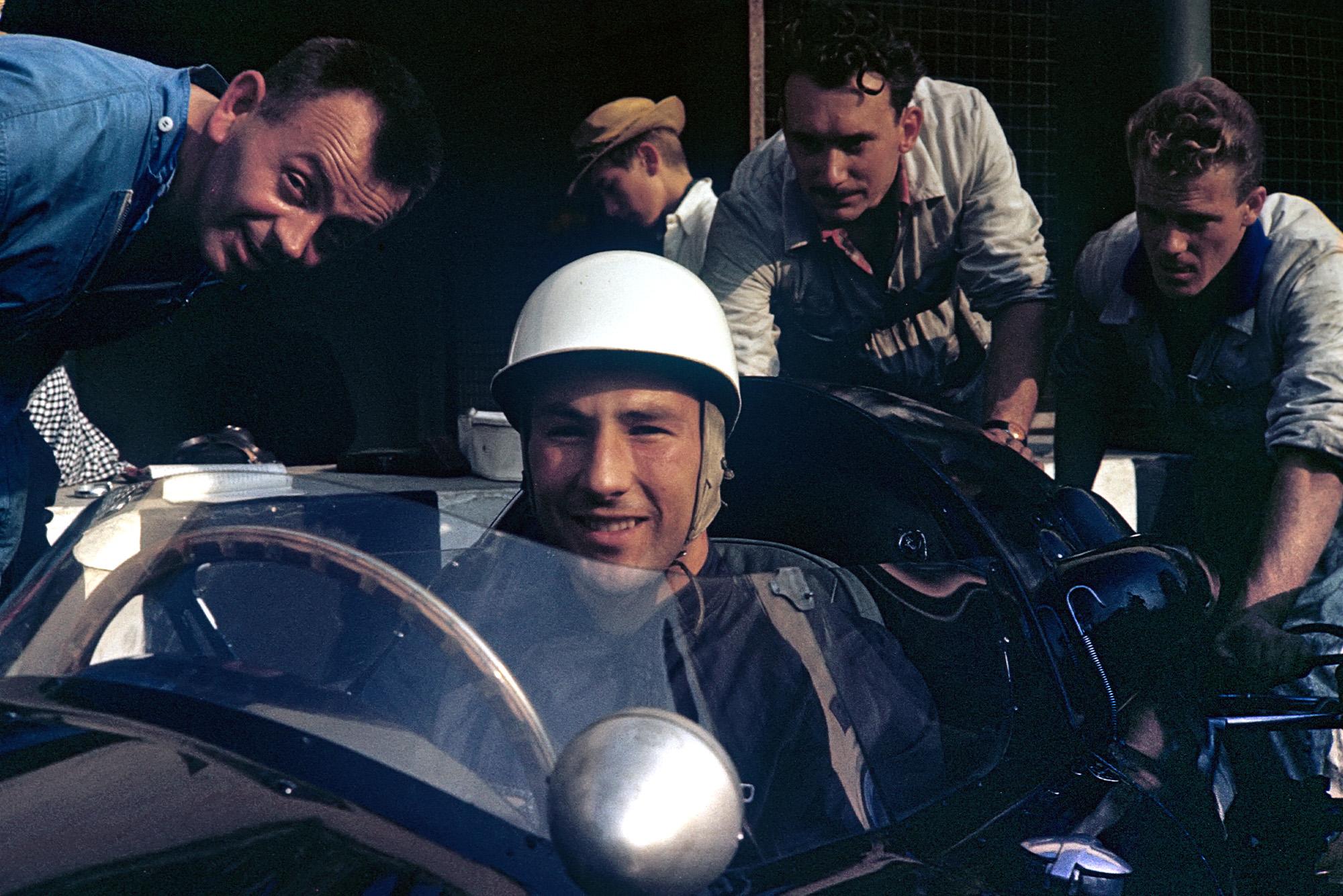 Stirling Moss at the 1959 Dutch Grand Prix