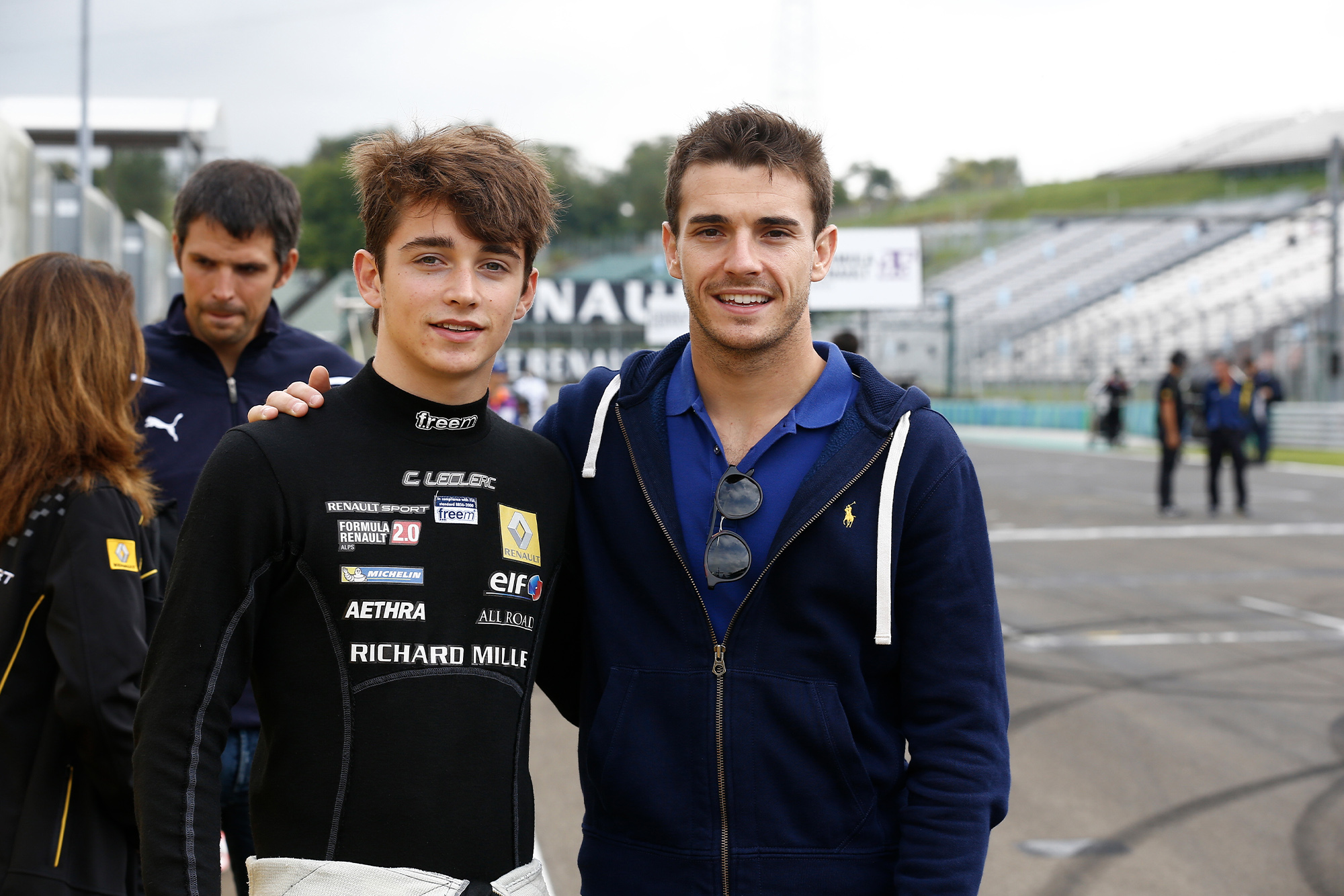 Jules Bianchi with Charles Leclerc in 2014