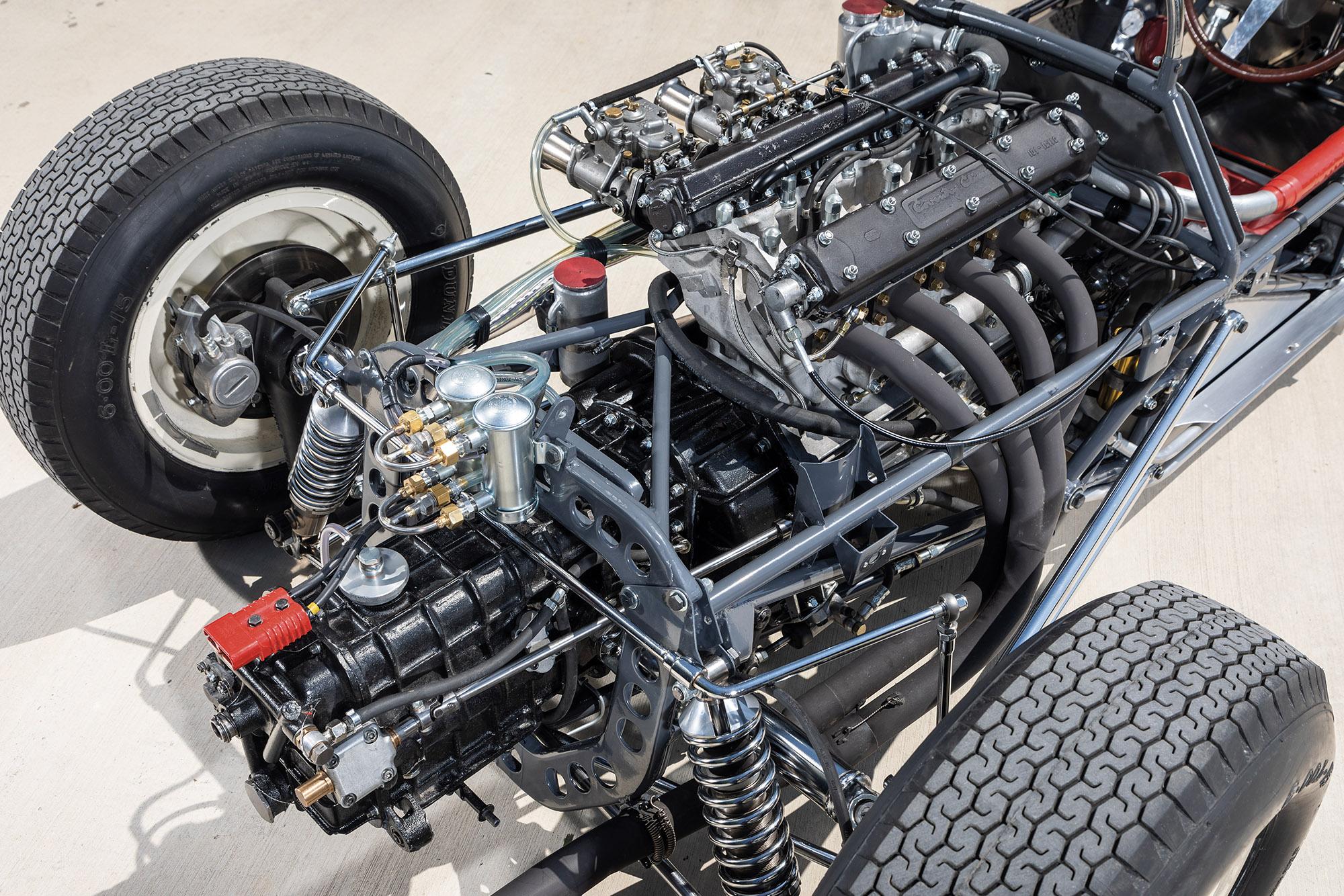 1961 Stirling Moss Monaco winning Lotus 18 engine