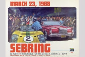 Classic motor racing posters for sale in online auction