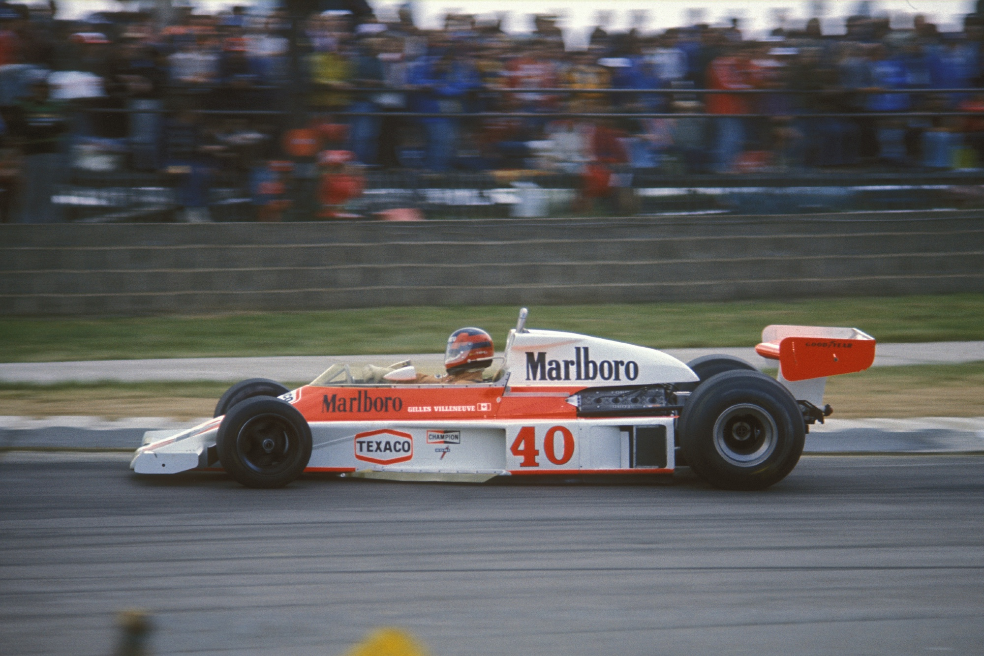 Gilles Villeneuve during the 1977 British GP