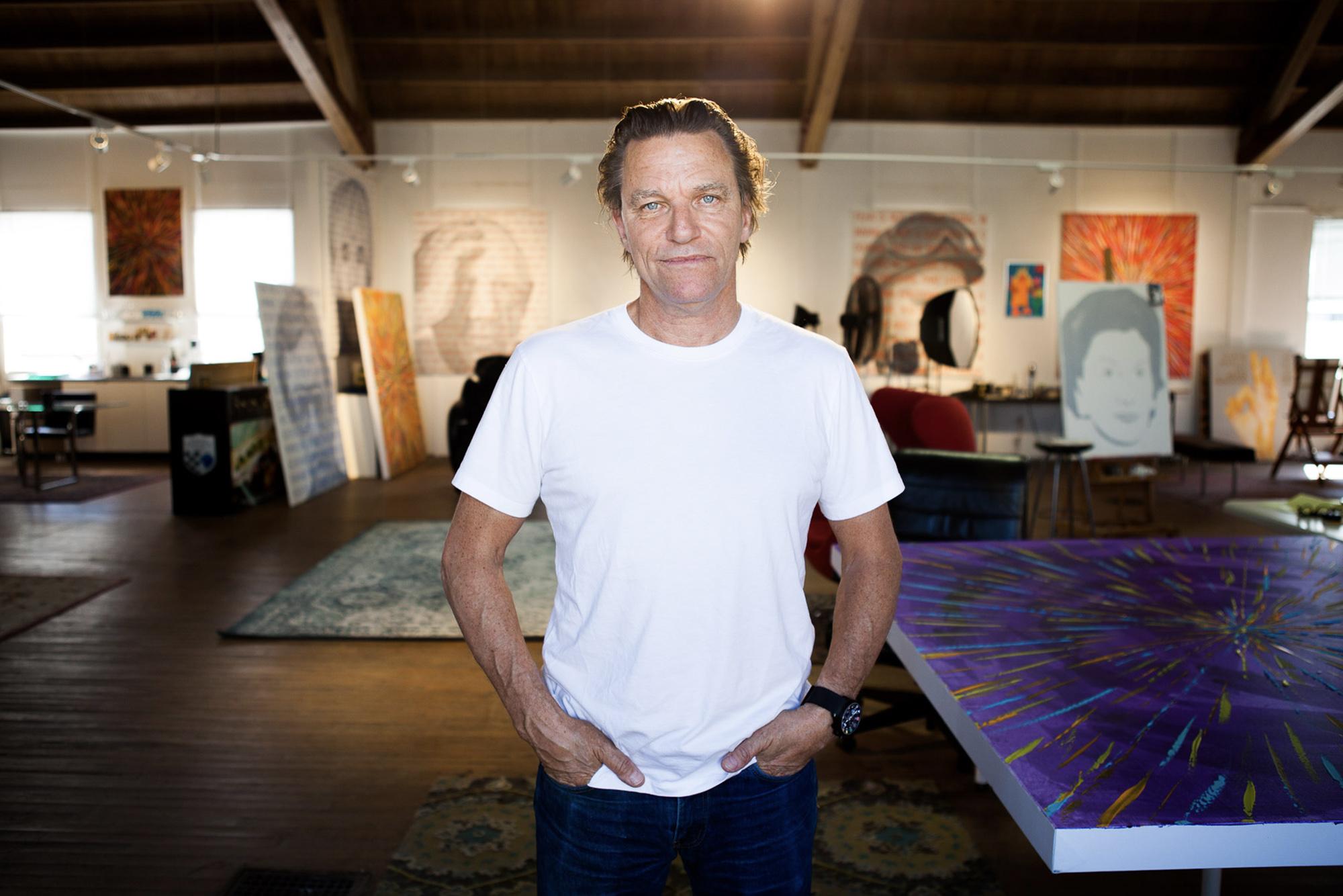 Stefan Johansson in his studio