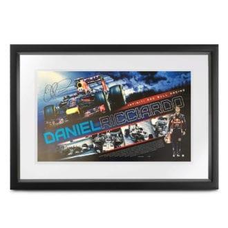 Product image for Daniel Ricciardo - Red Bull RB10 - 2014   poster   signed Daniel Ricciardo