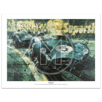Product image for Aston One Two | Roy Salvadori – Aston Martin DBR1 – 1959 | John Ketchell | Limited Edition Print