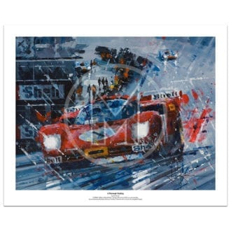 Product image for A Thorough Soaking | Jackie Ickx – Ferrari 512S – 1970 | John Ketchell | Limited Edition Print