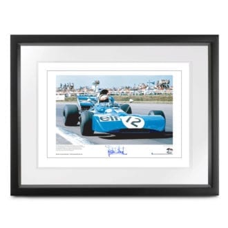 Product image for Jackie Stewart - Tyrrell 003 - 1971    lithographic print   signed Sir Jackie Stewart
