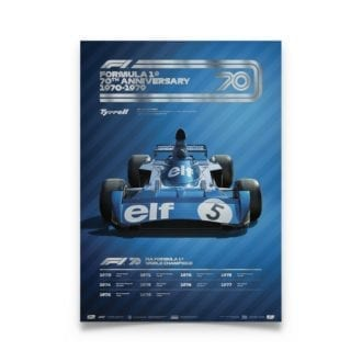 Product image for Formula 1® Decades | Jackie Stewart - Tyrell 006 - 1970s | Collector's Edition poster