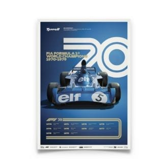 Product image for Formula 1® Decades   Jackie Stewart - Tyrrell 006 - 1970s   Limited Edition poster