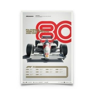 Product image for Formula 1® Decades   Ayrton Senna – McLaren MP4/4 – 1980s   Automobilist   Limited Edition poster