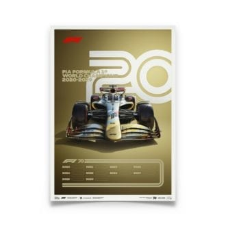 Product image for Formula 1® Decades – 2020s - The Future Lies Ahead | Automobilist | Limited Edition poster
