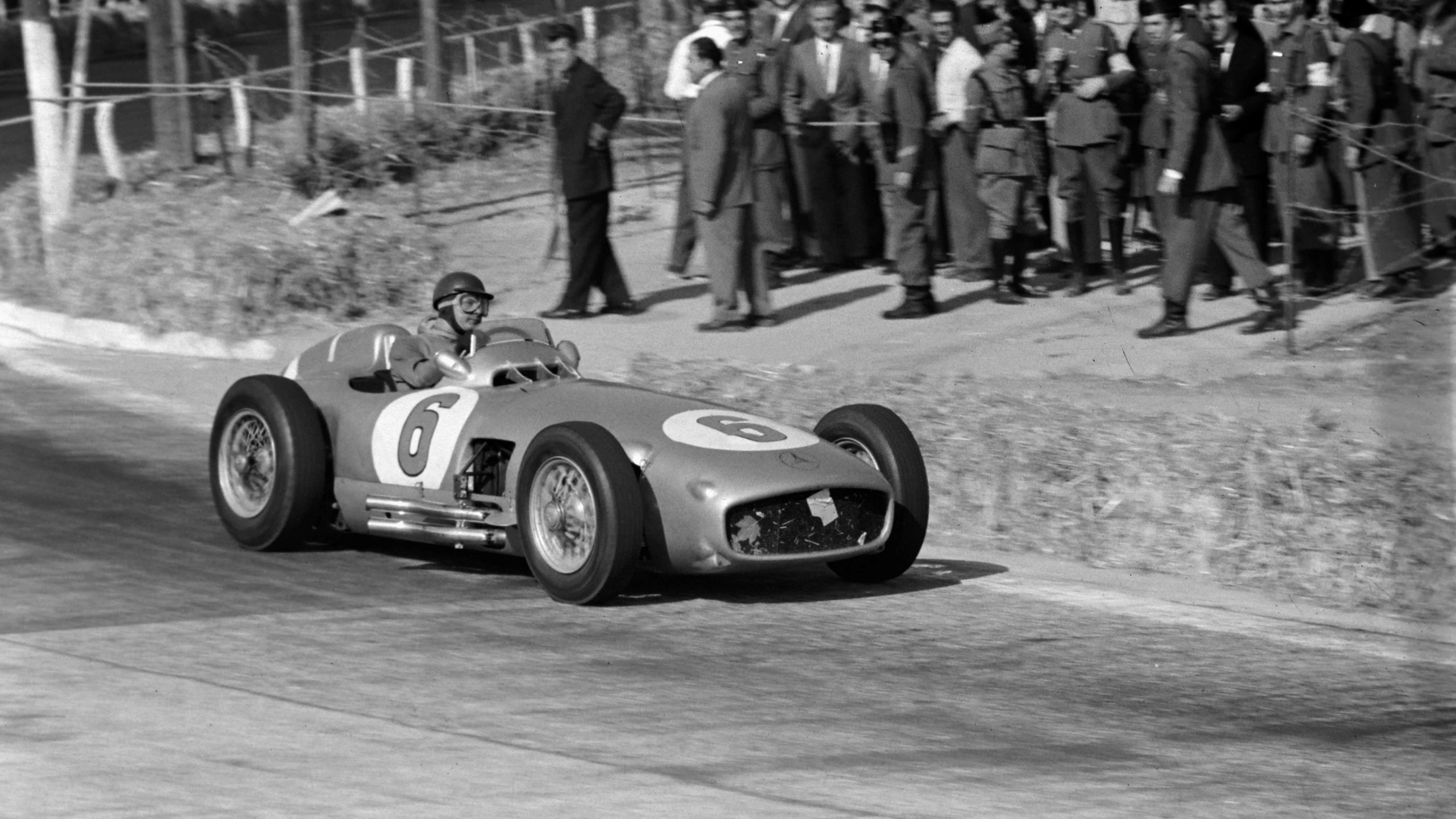 Hans Herrmann, Mercedes W196 during the Spanish GP at Pedralbes on October 24, 1954
