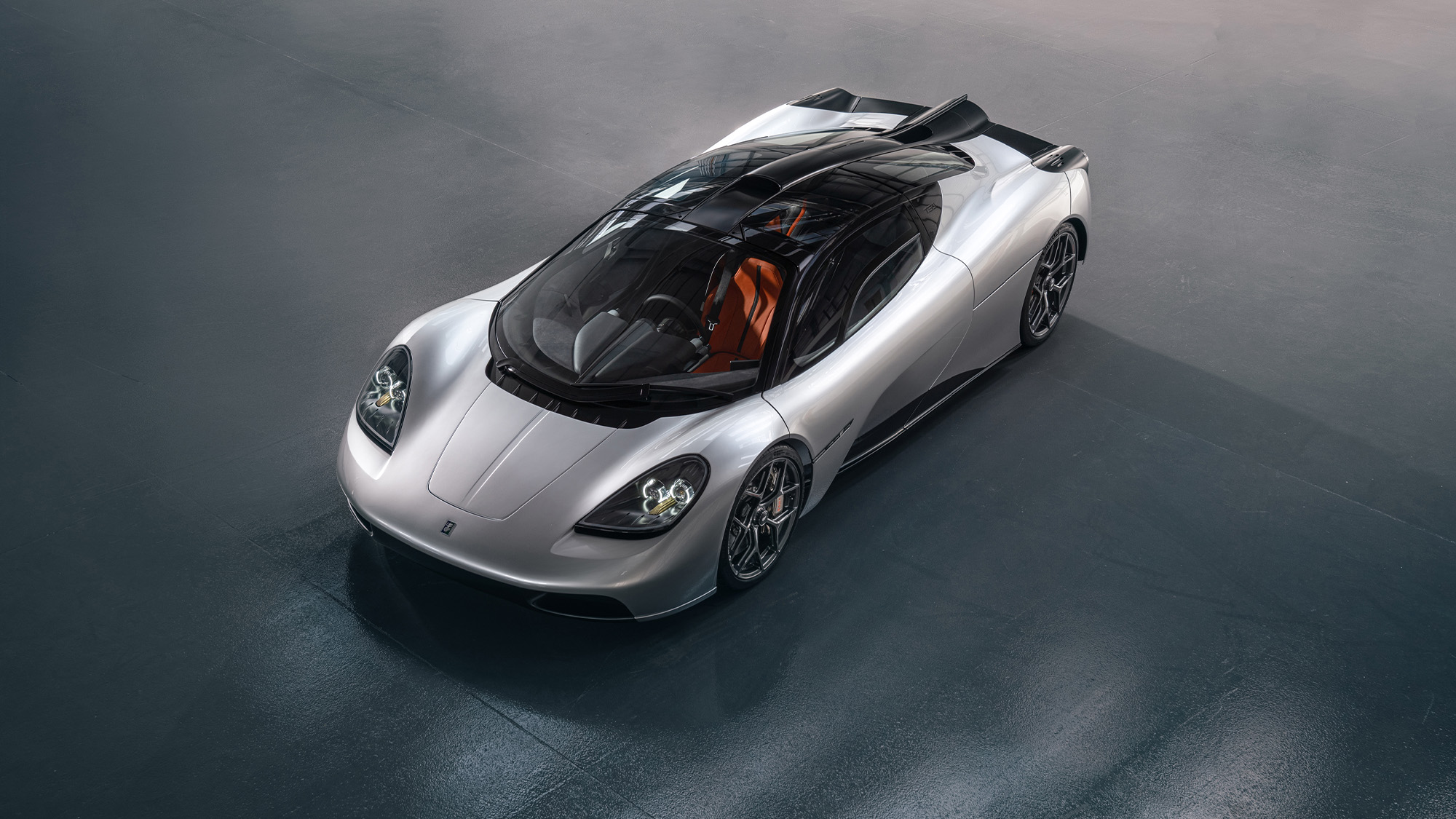 Gordon Murray T50 front overhead view
