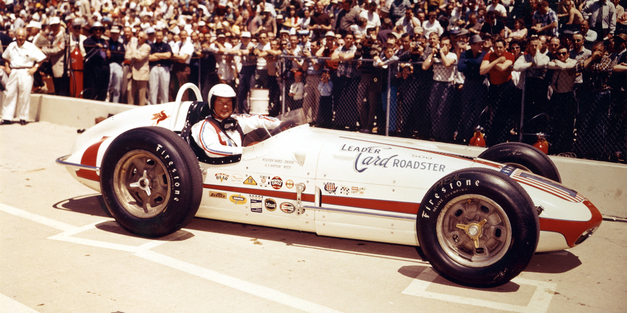 Rodger Ward in his car portrait shot at the 1960 Indy 500