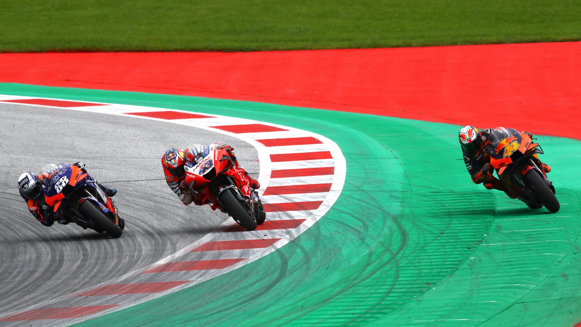2020 Styrian GP MotoGP finish
