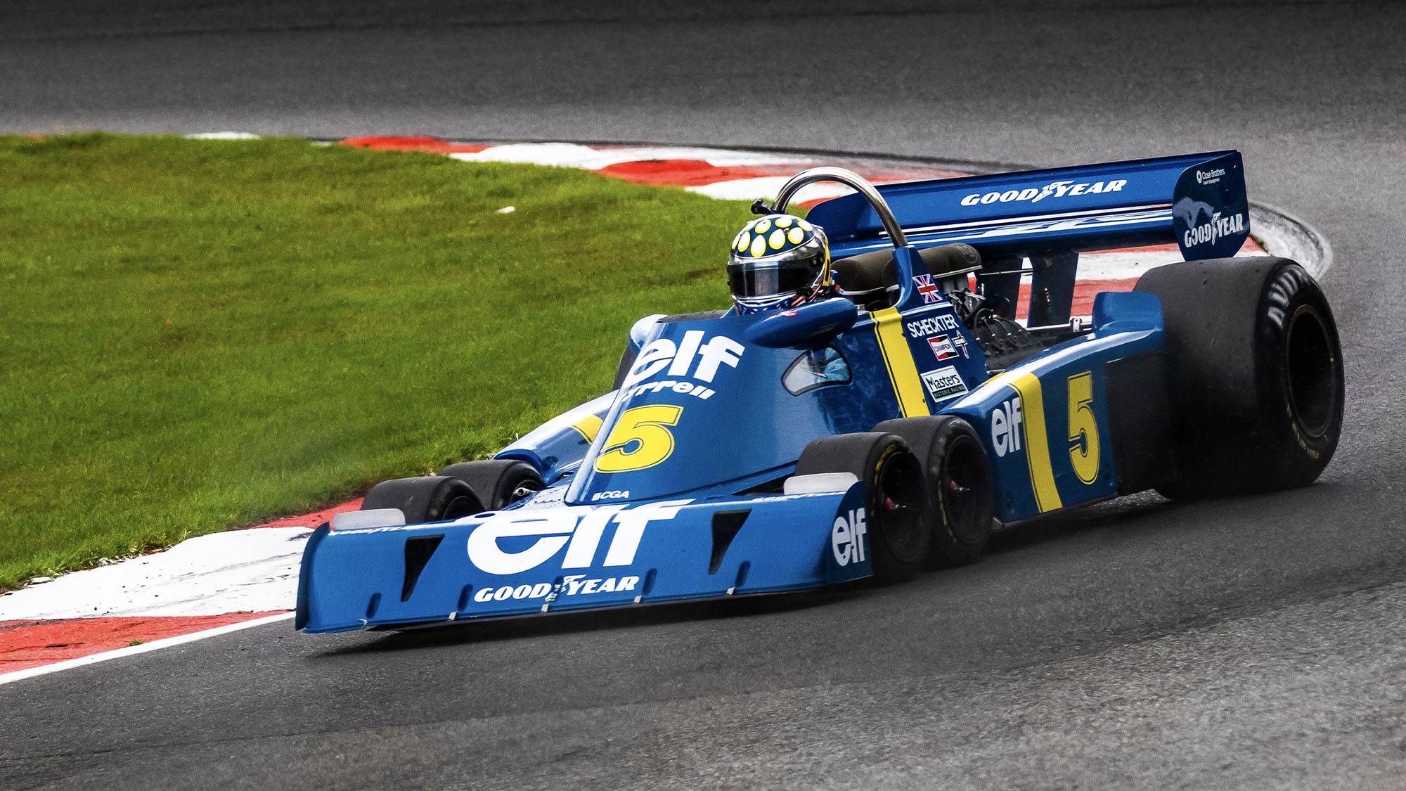 Jonathan Holtzman in his Tyrrell P34 during the 2020 Brands Hatch Historic Masters round