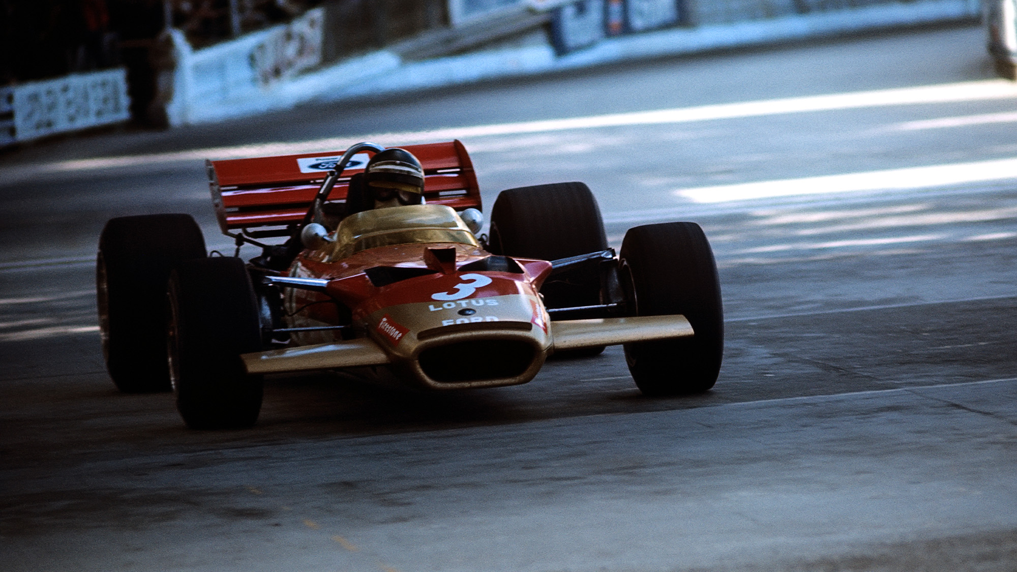 Jochen RIndt at the monaco Grand Prix 1970 in the Lotus 49B