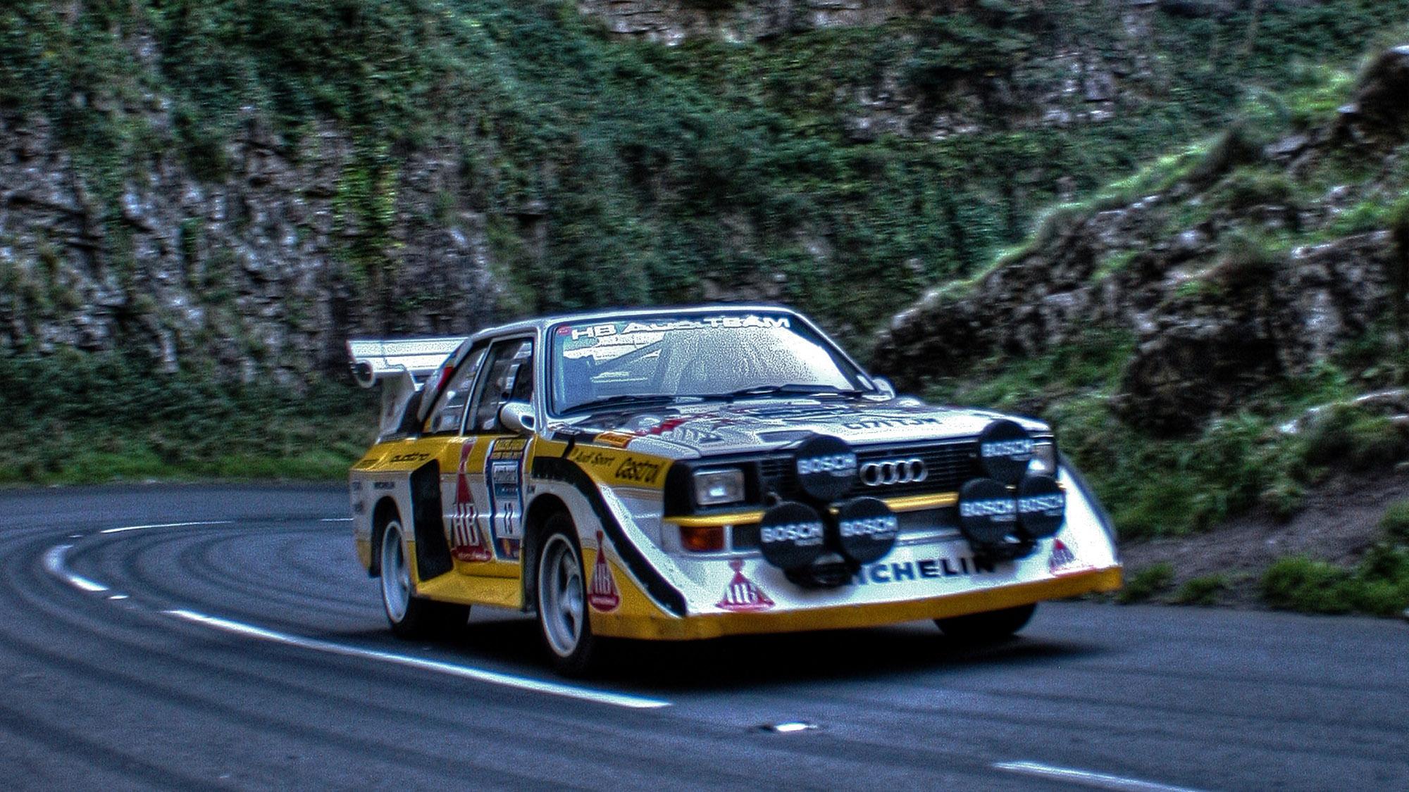 Audi Quattro through Cheddar Gorge