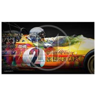 Product image for Bruce McLaren | McLaren-Ford M7A | 1968 | Art Print