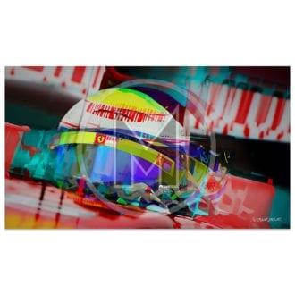 Product image for Felipe-Massa | Ferrari | Belgian Grand Prix | 2008 | Art Print