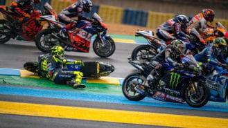 A Rossi landmark: his first-ever third consecutive crash