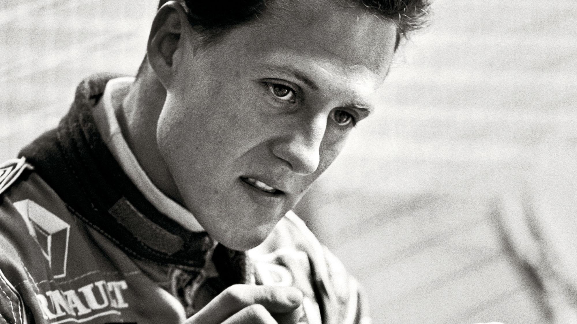 Michael Schumacher in Benetton race suit