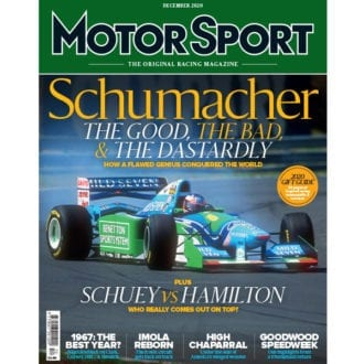 Product image for December 2020 | Schumacher: The Good, The Bad, & The Dastardly | Motor Sport Magazine