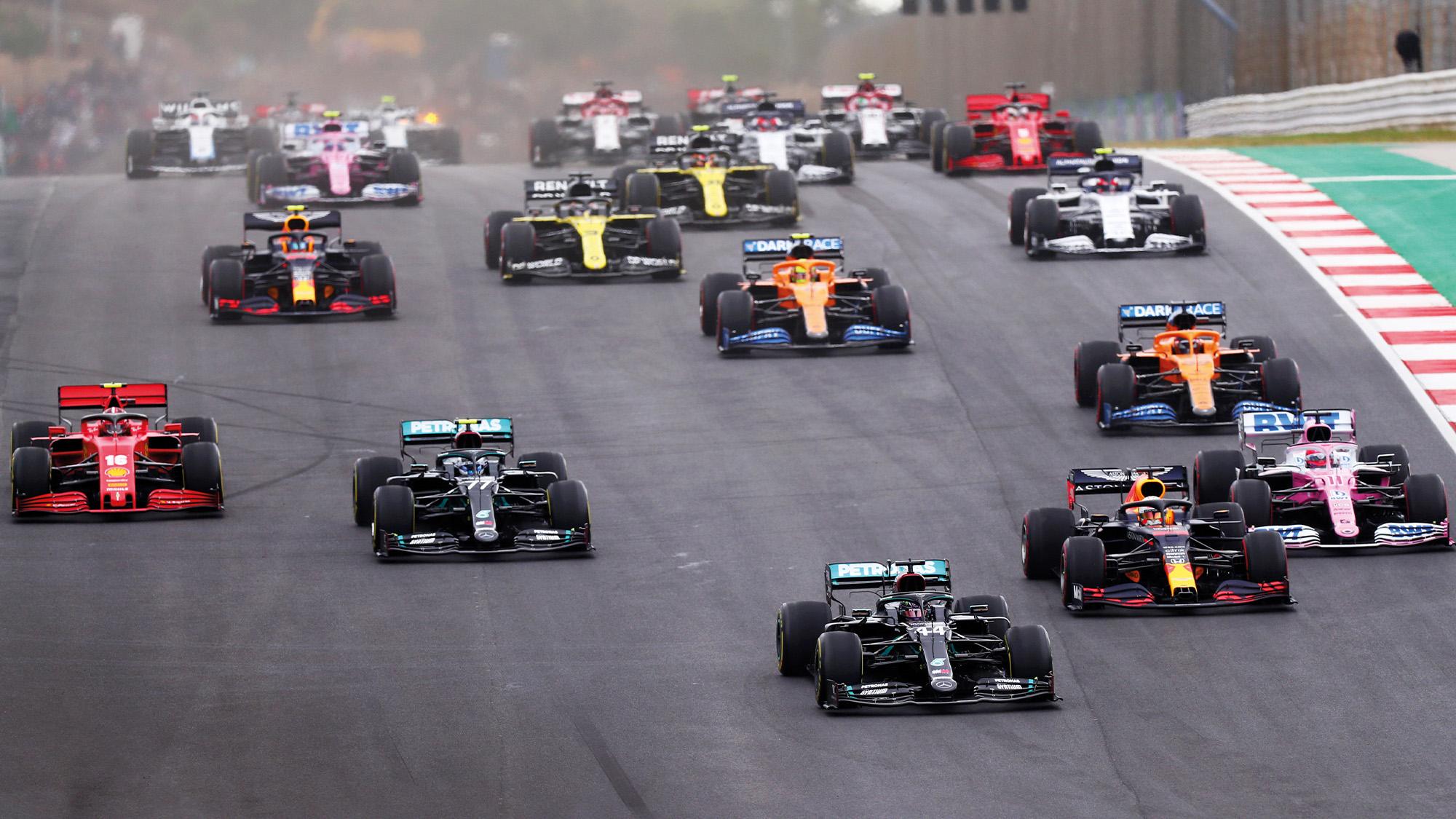 Start of the 2020 Portuguese Grand Prix at Portimao