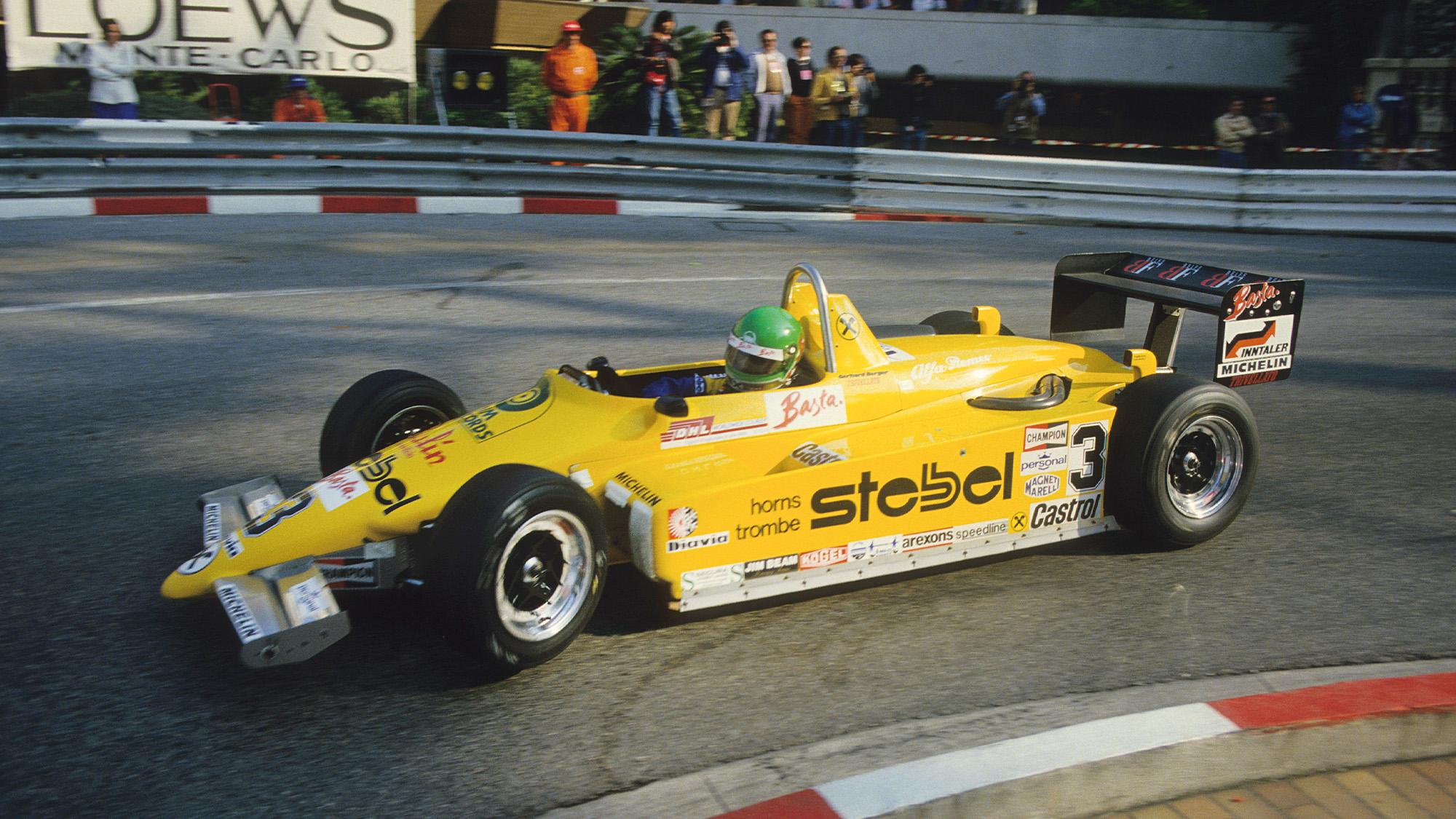 Gerhard Berger in an F3 Ralt RT3