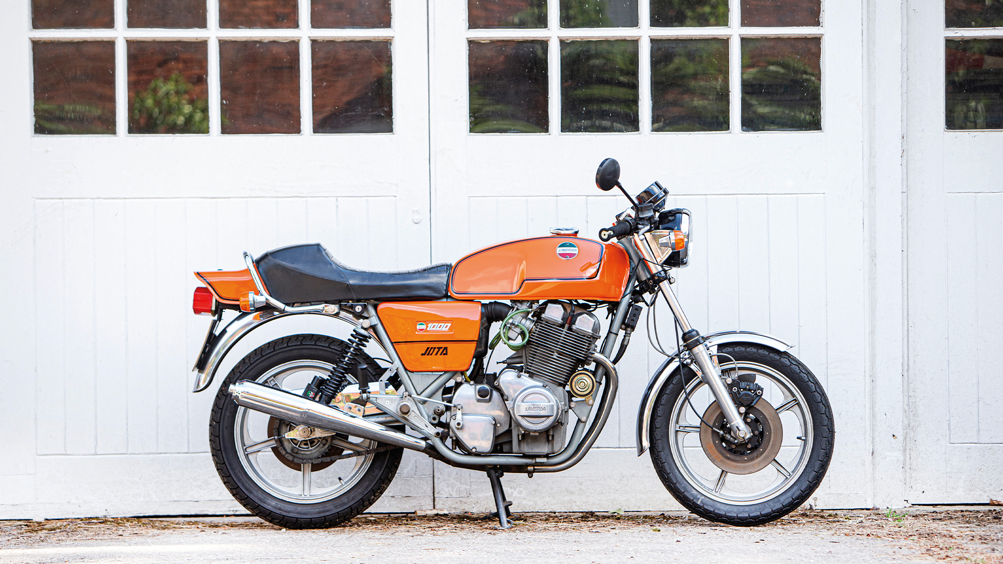 Side view of a 1981 Laverda Jota 180 motorbike