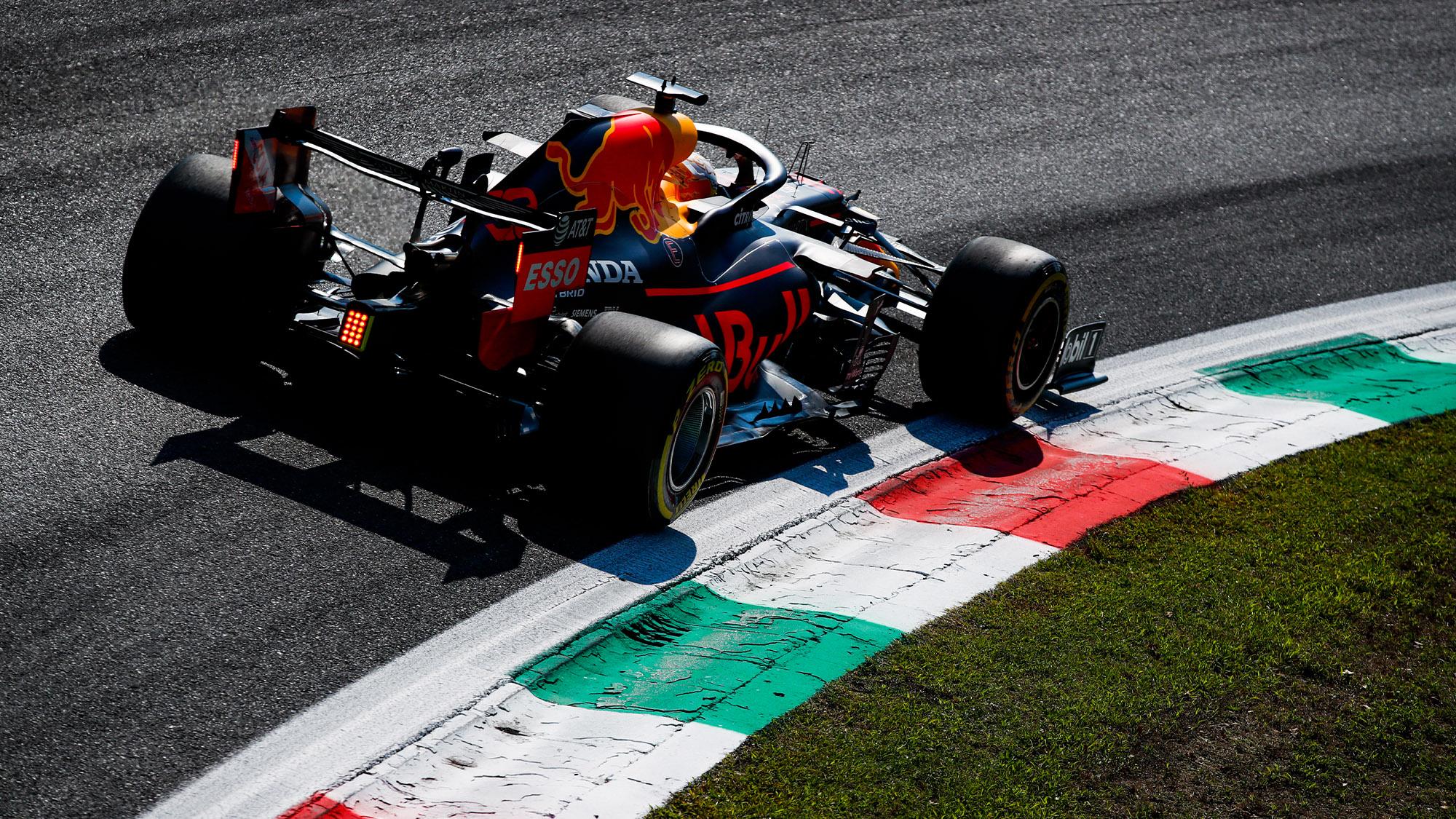 Red Bull of Alex Albon at the 2020 Italian Grand Prix