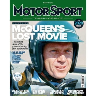 Product image for February 2021 | McQueen's Lost Movie | Motor Sport Magazine