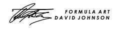 David Johnson signature, Formula Art