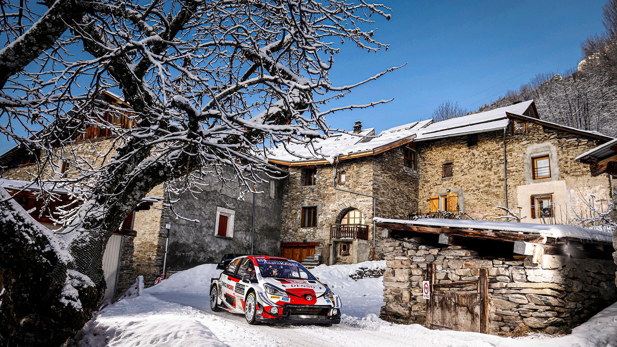 Kalle Rovanpera in the 2021 Monte Carlo rally