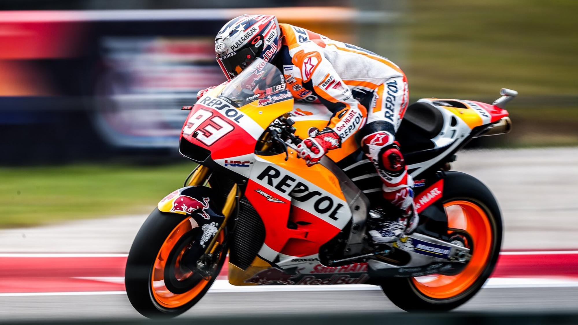 Marc Marquez on his MotoGP Honda bike
