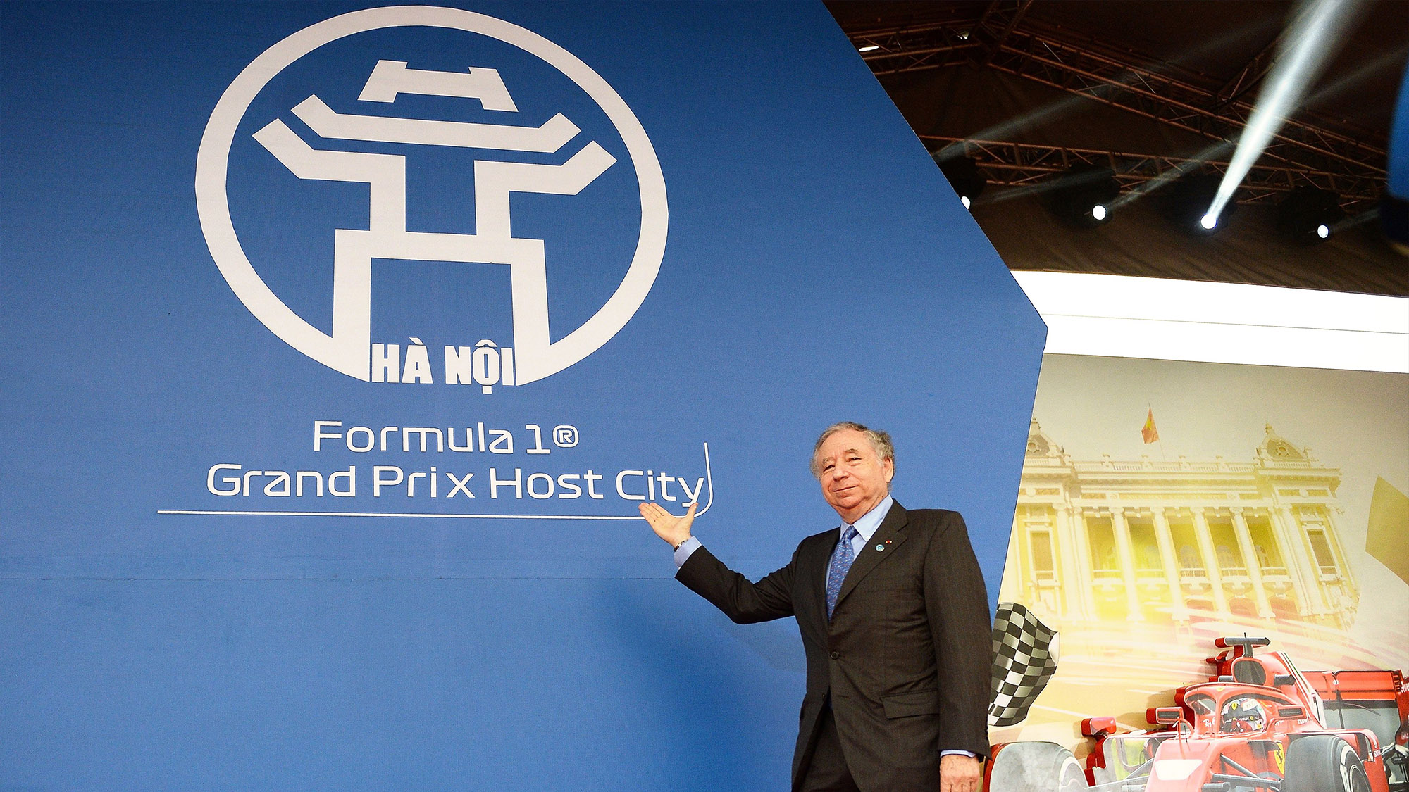 Jean Todt at the ground breaking ceremony for the Hanoi Street Circuit