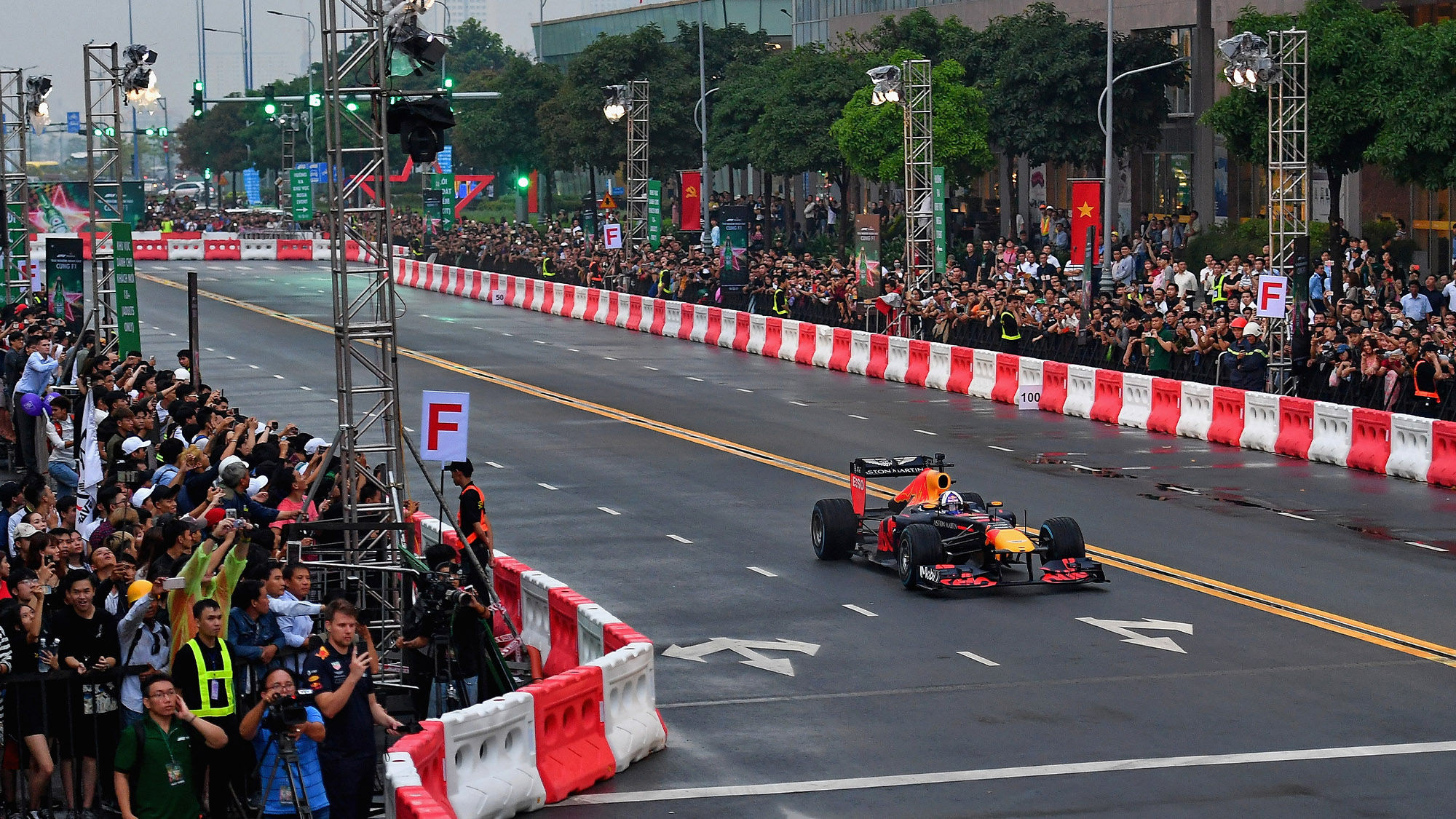 David Coulthard on a demonstration run in Ho Chi Minh City