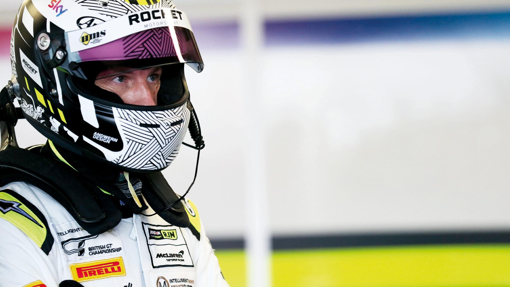 Jenson Button in Rocket RJN racesuit