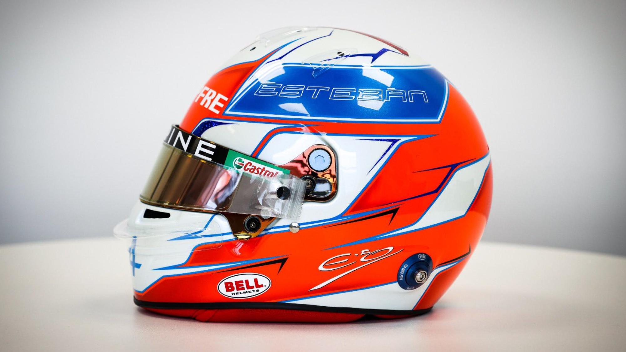 Esteban Ocon 2021 F1 Helmet